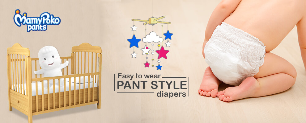 Easy to wear PANT STYLE diapers