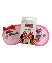 Poplar Linens Eye Mask Miss Minnie - Pink