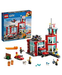 LEGO City Fire Station Building Set 60215 -509 Pieces