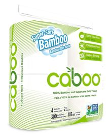 Caboo Bathroom Tissue Pack Of 4 - 300 sheet
