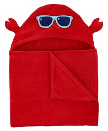 Carter's Crab Hooded Towel - Red