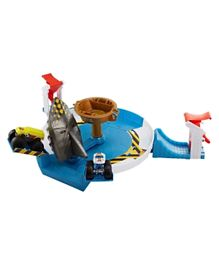 Hot Wheels MT Mecha Shark Face Off Set- Blue