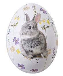 Talking Tables Truly Bunny Card Hollow Egg Medium Pack of 1 - Multicolour
