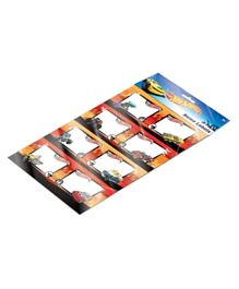 Hot Wheels Name Label A4 Sheet Pack of 2 - Multi Color
