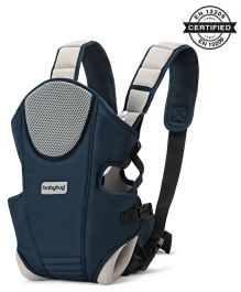 Babyhug First Blossom 3 Way Baby Carrier With Detachable Bib & Head Cushion - Navy Blue