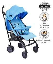 Babyhug Little Star Stroller With Adjustable Leg Rest - Blue