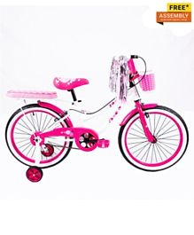 Little Angel Kids Bicycle White/Pink - 14 Inches