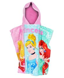 Disney Princess Printed Beach Poncho for Kids Girl - Multicolor