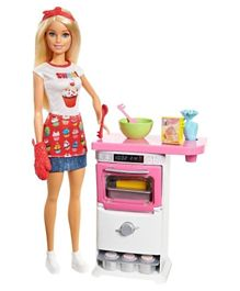 Barbie Bakery Chef Doll and Playset - Multi Color