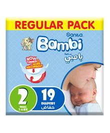 Sanita Bambi Baby Diapers Regular Pack Size 2 - 19 Pieces