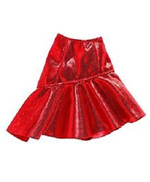 Barbie Asymmetric Ruffle Mini Fashion - Red
