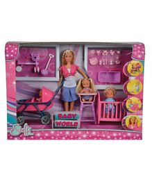 Disney Steffi Love Baby World Doll Pink - 29 cm