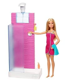 Barbie Doll & Shower Accessory - Pink