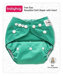 Babyhug Free Size Reusable Cloth Diaper With Insert - Green