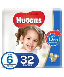 Huggies Ultra Comfort Diapers Size 6, Value Pack - 32 Pieces