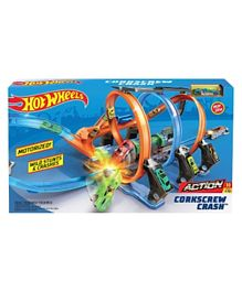 Hot Wheels Corkscrew Crash Set - Multicolour