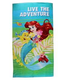 Disney Princess Printed Beach Towel for Kids Girl - Multicolor