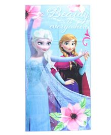 Disney Frozen Anna & Elsa Printed Beach Towel for Kids Girl - Multicolor