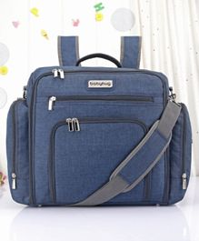 Babyhug Multipurpose Backpack Style Diaper Bag - Blue