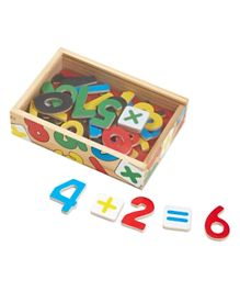 Melissa & Doug Magnetic Wooden Numbers Multicolor - 37 Pieces