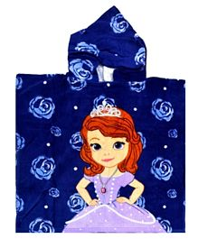Disney Sofia Printed Beach Poncho for Kids Girl - Multicolor