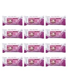 Angry Bird Premium Wet Wipes Lilac Pack of 12 - 120 Wipes