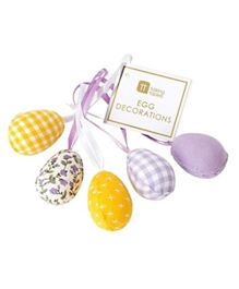 Talking Tables Truly Bunny Egg Decorations Pack of 5 - Multicolour