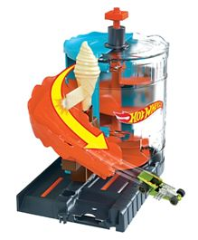 Hot Wheels City Downtown Ice Cream Meltdown Playset GPD08 - Multicolor