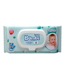Sanita Bambi Baby Wet Wipes Protective Cream Wipes - 56 Pieces
