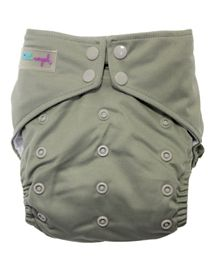 Little Angel Baby One Size Reusable Pocket Diaper With 2 Inserts - Grey