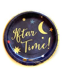 Party Camel Iftar Time Plates Pack of 12 - 17 cm