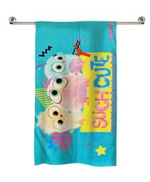 Angry Birds Printed Beach Towel - Light Blue
