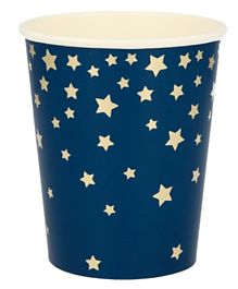 Party Camel Blue Star Cups Pack of 8 - 266 ml