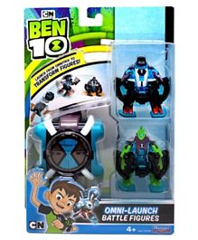 Ben 10 Omni Launch Battle Figures Four Arms & Wild Vine - Multicolour