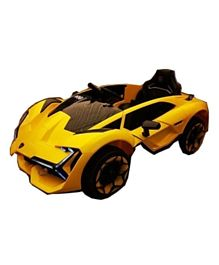 Megastar Lamborghini Ride On Car With Open able Doors & Remote Control - Yellow