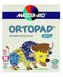Ortopad Orthopedic Boys Regular Eye Patches - 50 Pieces