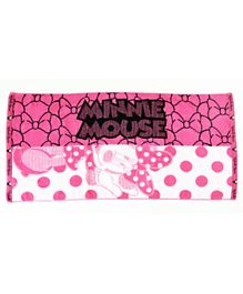 Disney Minnie Jacquard Patterned Kids Bath Towel Cotton TC 1785 2 - Pink White
