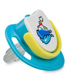 Pigeon Ship Silicone Pacifier Step 3 - Blue