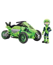 Ben 10 Transforming Omni Cycle with Figure - Green