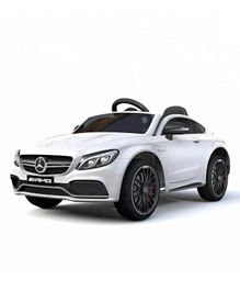 Megastar 12V Licensed Mercedes Coupe C63 Ride On Car With Remote Control  - White