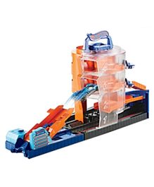 Hotwheels City Super Sets Play Set Asst Super Spin Dealership - Orange