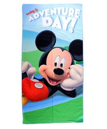 Disney Mickey Printed Beach Towel for Kids Boys - Multicolor