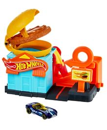 Hot Wheels City Downtown Burger Dash Playset GPD09 - Multicolor