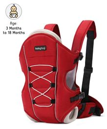 Babyhug Cuddle Up 3 Way Baby Carrier With Padded Lumbar Strap - Red
