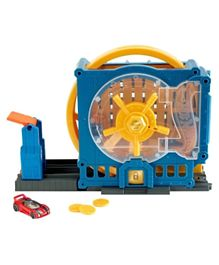 Hotwheels City Super Sets Play Set Asst Super Bank Blast Out - Yellow