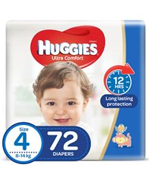 Huggies Ultra Comfort Diapers Size 4 Jumbo Pack - 72 Pieces