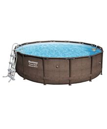 Bestway Power Steel Deluxe Round Pool Set - 14 Feet by 48 Inches