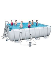 Bestway Power Steel Square Frame Pool Set - 16 Feet by 48 inches
