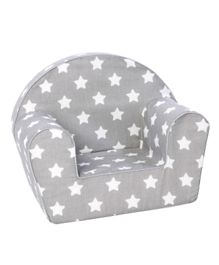 Delsit Arm Chair - Grey with White Stars
