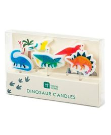 Talking Tables Party Dinosaur Shaped Candles Pack of 5 - Multicolour